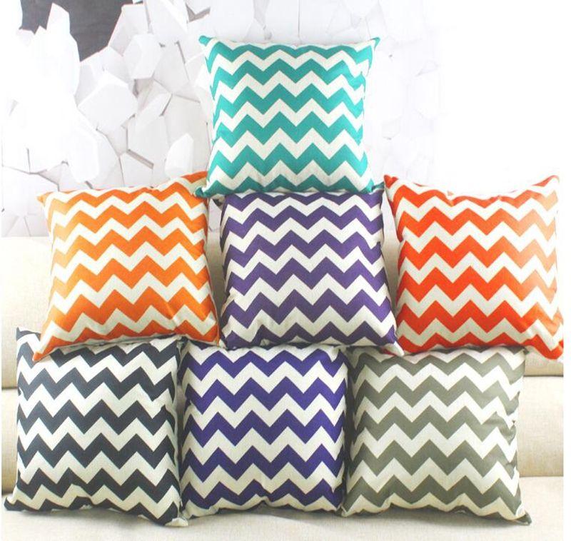 Striped Pillowcase Linen Home Sofa Throw Pillows Case Cushion Cover Wave Pattern Cushion Covers Christmas Home Decor 45 45cm Yl421 1
