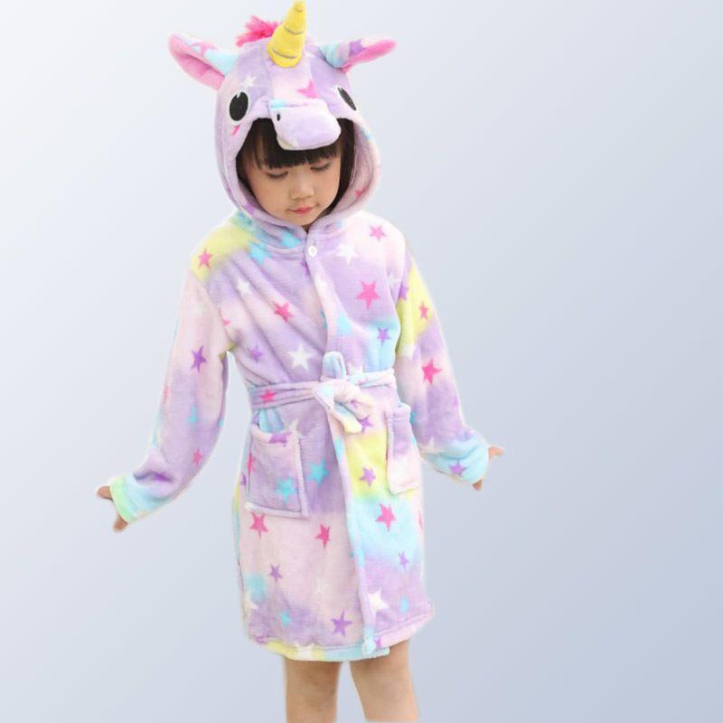31da8a85a Compre Animal Niños Pijamas Franela Con Capucha Unicornio Pijamas Onesies  Cosplay Niños Ropa De Dormir Para Niños Niñas 3 4 6 8 10 12 Años De Edad  Y18103008 ...