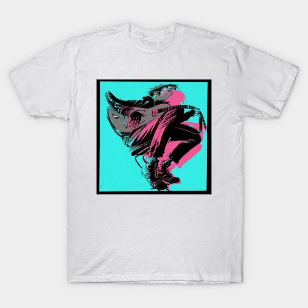 2018 Gorillaz cartoon T-shirt male tee