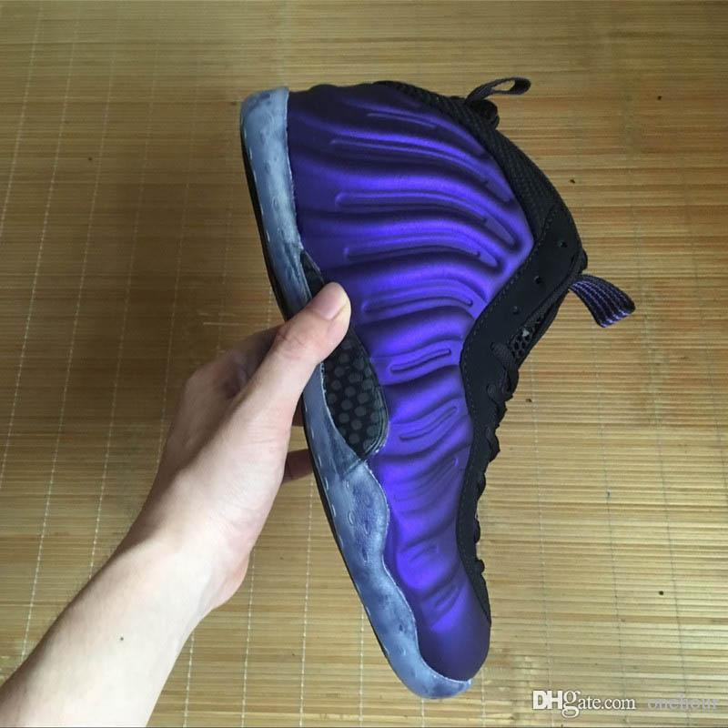 2018 hot mens basketball foammens shoes cheap Eggplant boy penny hardaway shoes Black Varsity Purple Sports posite sneakers with box online