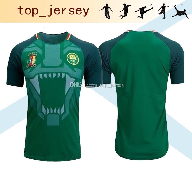 b604b0160 Compre 2017 18 Camarões Casa Camisa De Futebol Verde Thai Qualidade  Camarões Camisas De Futebol Camarões Seleção Nacional De Futebol Camisa  Uniforme 2018 De ...