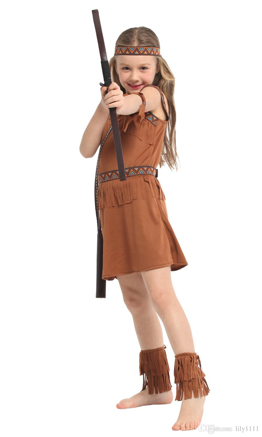 Shanghai Story Children American Indian Princess Cosplay Clothes ...