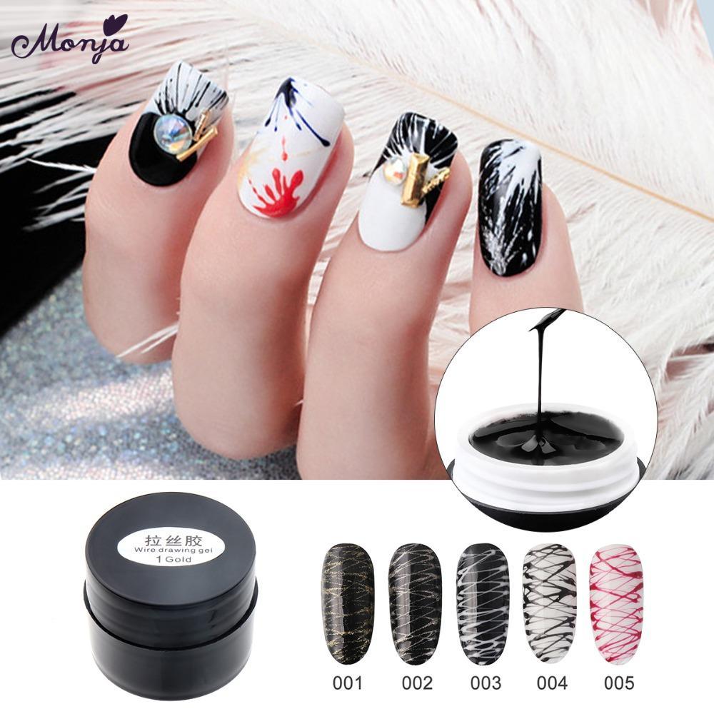 Compre Monja Nail Art Criativo Desenho Fio De Unhas De Gel