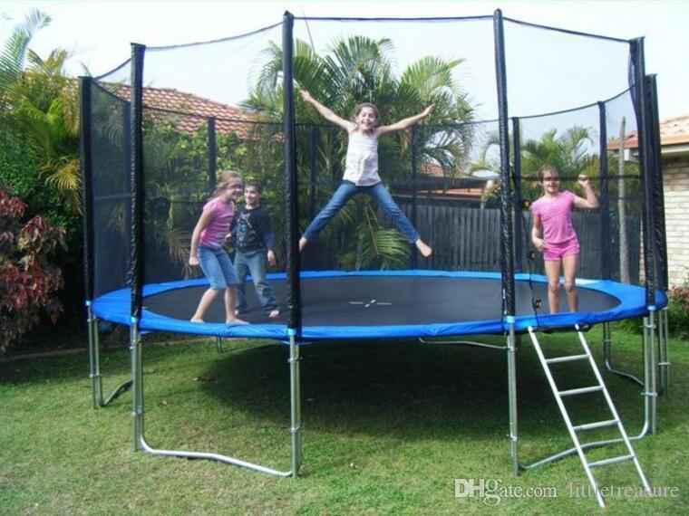 10ft Sport Trampoline Adult Fitness Equipments Exercise