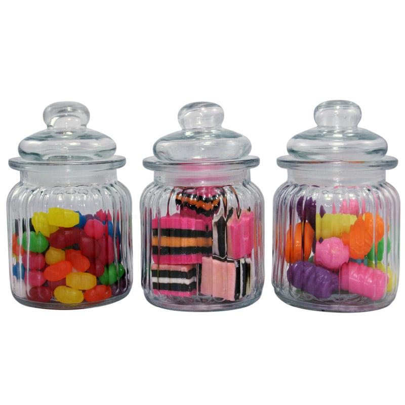 fc72dbcc4954 Wholesale- Bulk 12pc Small Ribbed Glass Candy Jars,USD59.40 for 12PC/Each  USD4.95