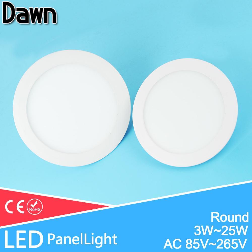 Led Panel Light Downlight Ceiling Recessed 3w 5w 7w~18w Ac 85v~265v ...