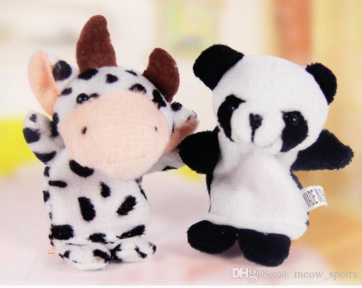 의 / 많은 크리스마스 아기 봉 제 장난감 손가락 인형 이야기 소품 10 동물 그룹 동물 인형 어린이 장난감 어린이 선물