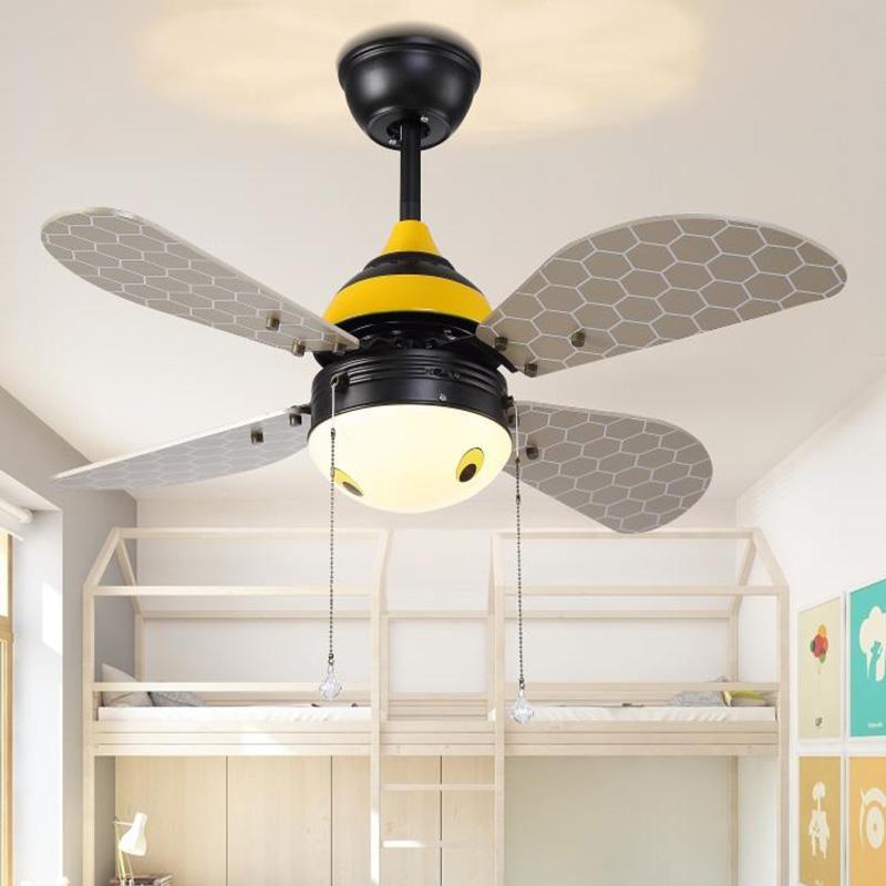 Acheter Ventilateurs De Plafond Led Art Déco Lumière Créative