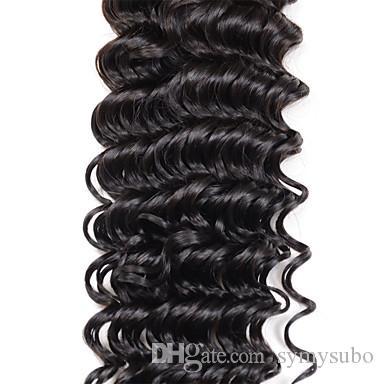 "8""-30"" Malaysian Deep Wave Hair Extensions UK Deep Wave Hair Weave Styles Virgin Remy Hair Bundles"