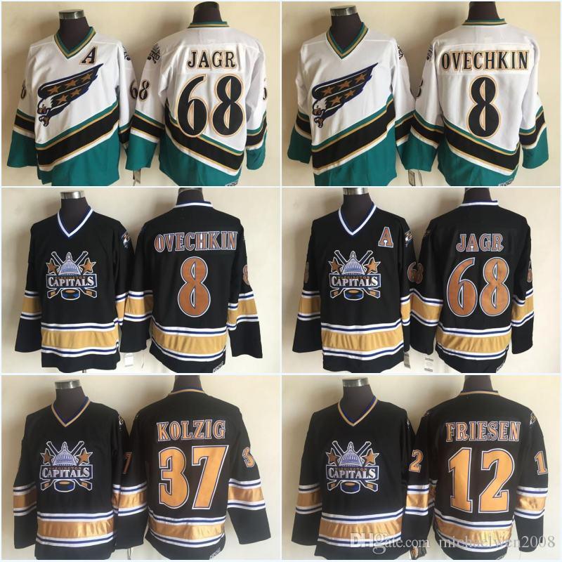 7b7150b722f 2019 Mens 2003 Washington Capitals 68 Jaromir Jagr Jersey 8 Alex Ovechkin  37 Kolzig 12 Jeff Friesen Cheap Hockey Jerseys From Michaelwen2008
