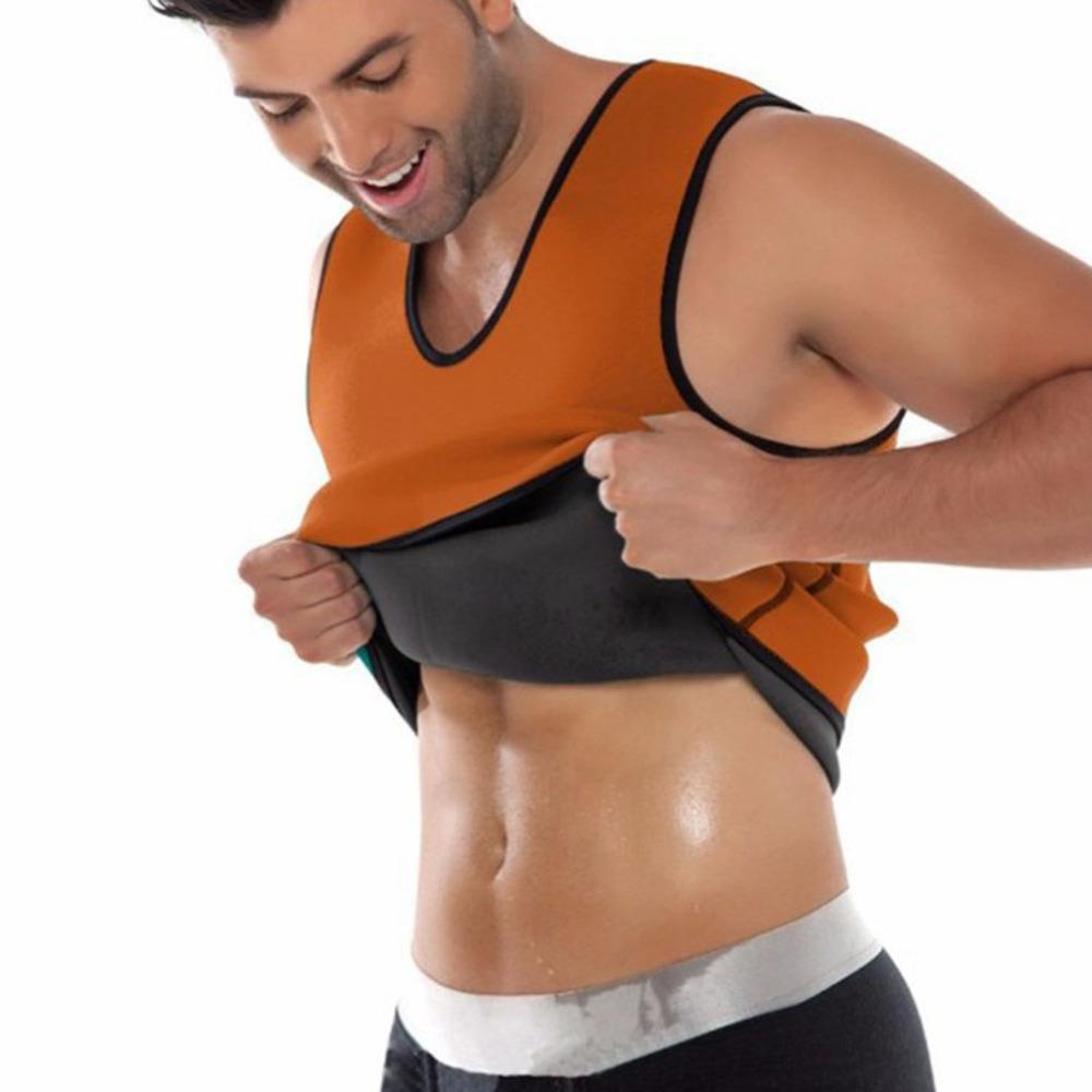 90895f77486c3 Hot Shapers Mens Compression Slimming Shirt Waist Trainer Corset ...