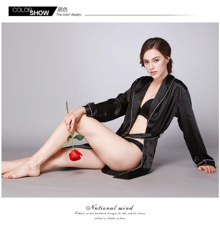 102830dd1 2019 Women S Silk Satin Pajamas Set Sleepwear Loungewear Plus Size ...