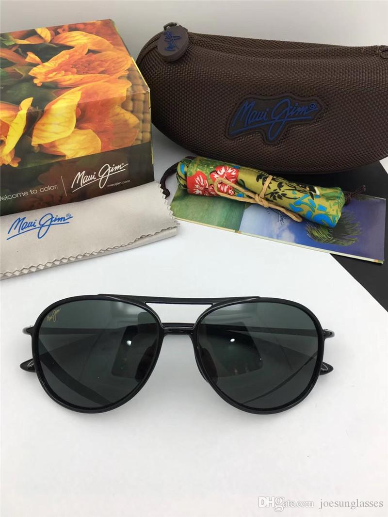 c122858fb82 Classic Men Designer Sunglasses Mauijim MJ-438 Pilot Full Frame ...