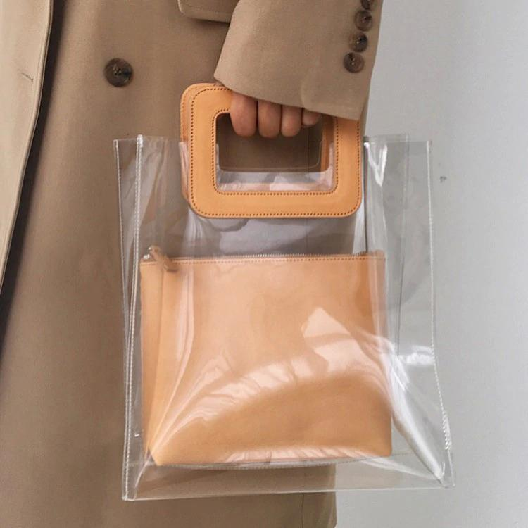 aca01495ff Kpop Style Summer Women PVC Beach Bag Waterproof Transparent Bags Fashion Women S  Handbags Composite Bag Brand Female Totes Handbag Sale Side Bags From ...