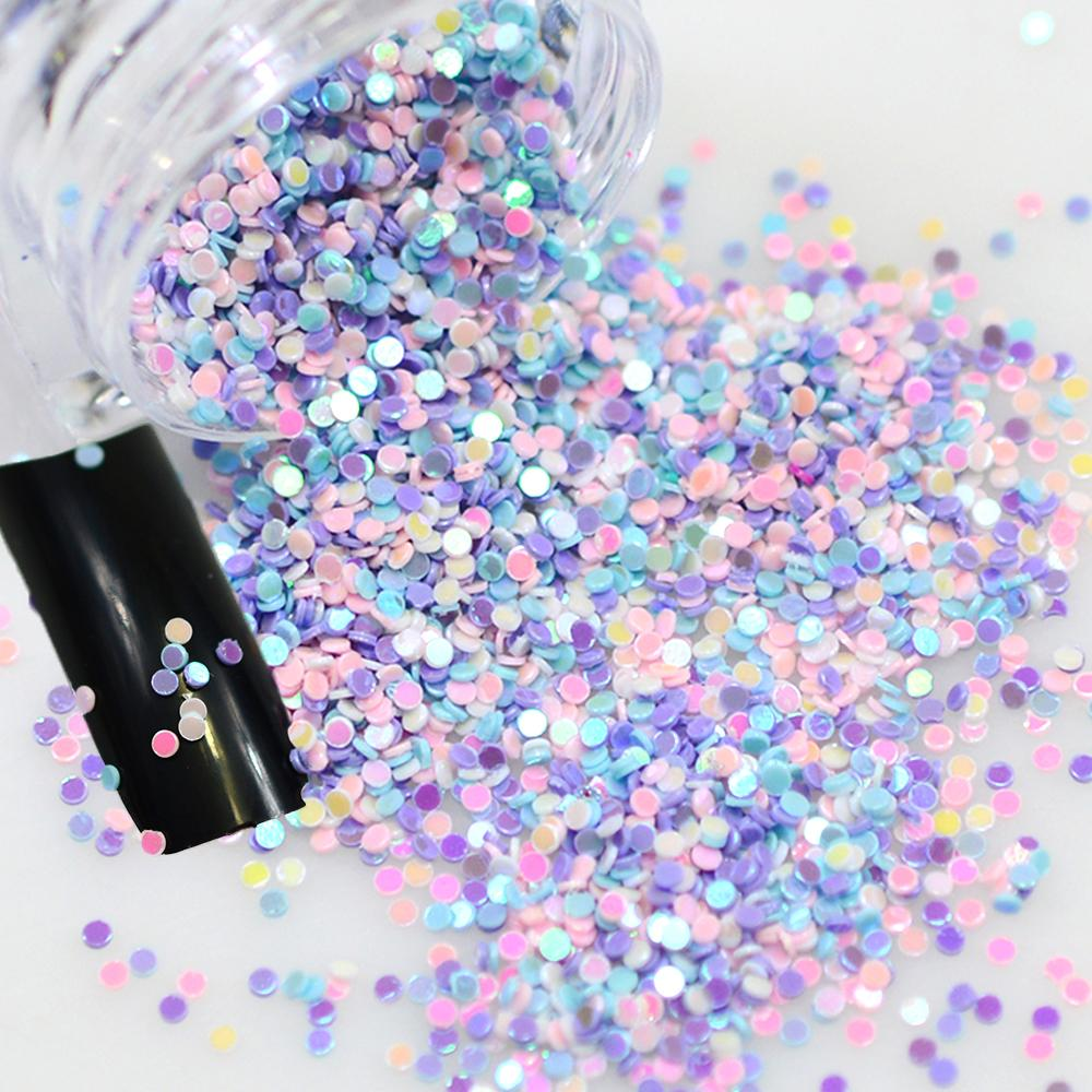 2g/box Rainbow Iridescent Mixed Round Designs Fashion Nail Glier Sequin Bead Nail Art Paillees 3d Decorations Tips Y04