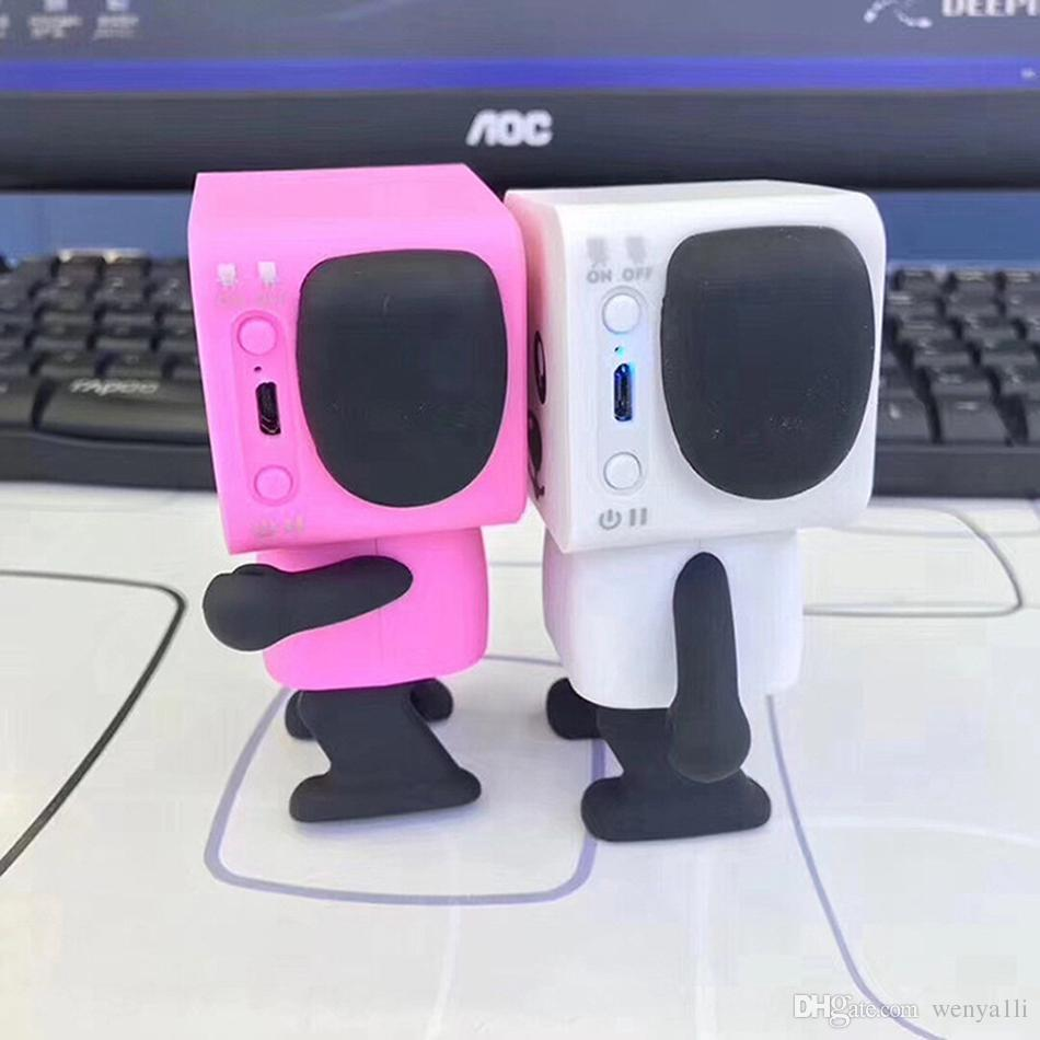 Haut-parleurs intelligents de chien de danse mini-dessin animé Bluetooth Dance Robot Dog Speaker beau pour le cadeau des enfants