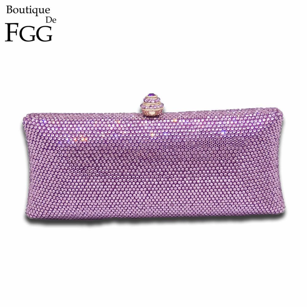 bc2c9fc91f Acheter Améthyste Purple Crystal Pochette De Soirée Femmes Designers Sacs  Et Sacs À Main De Mariage Sacs À Main De Mariée En Métal Embrayages Sac De  $53.55 ...