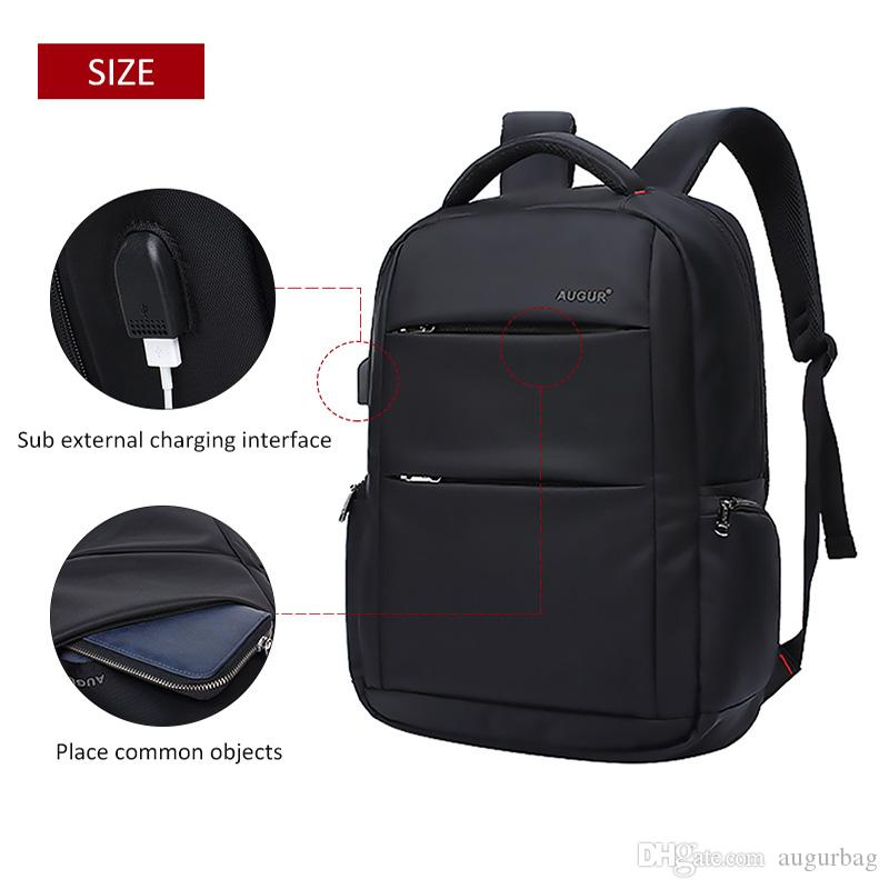 AUGUR Brand Backpacks USB Charging 16 Inches Laptop Back Pack Men Teenagers  Travel Large Capacity Casual Fashion Style Back Bag Backpacks For College  ... c99b2f3a2bd3d