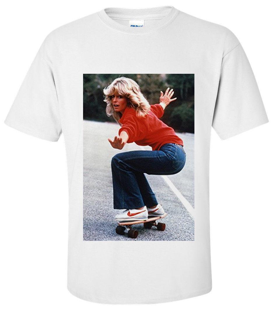 FARRAH FAWCETT RETRO SKATEBOARD T Shirt SMALL MEDIUM LARGE XL Buy Shirt Ti  Shirt From Tomseng a3ee9c08dd11