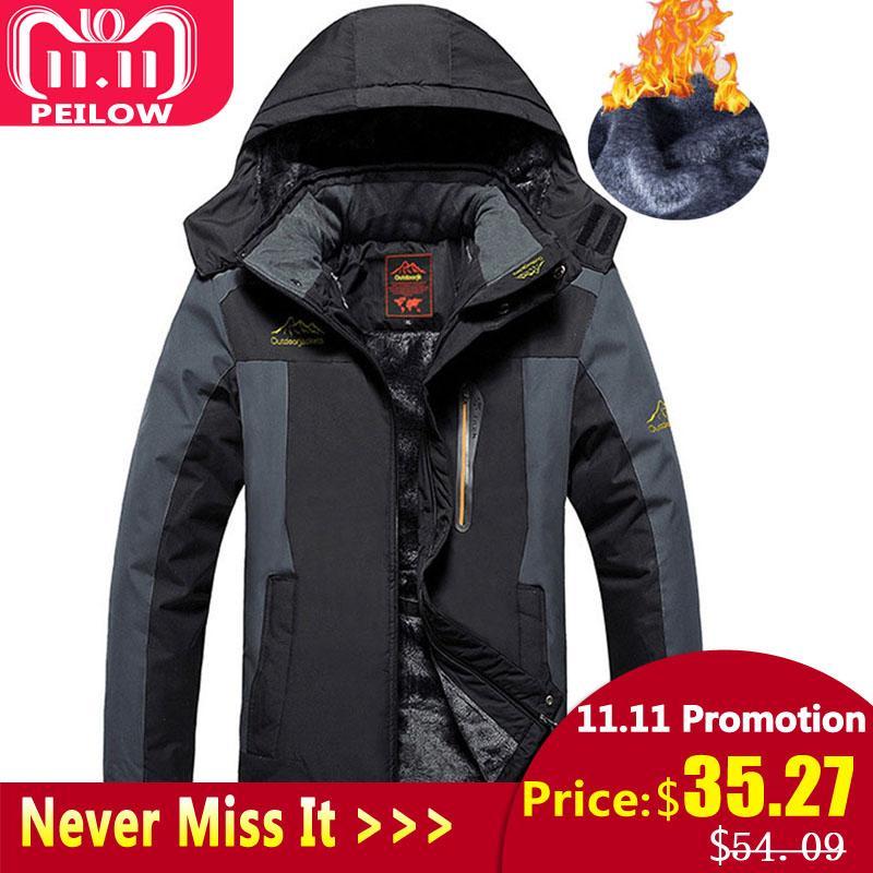 Jackets Hot Sale Plus Size 8xl 6xl 5xl 4xl Fall Autumn Jacket Men 2 In 1 Set Parka Jacket Windproof Waterproof Hooded Overcoat Casual Male Jacket Jackets & Coats