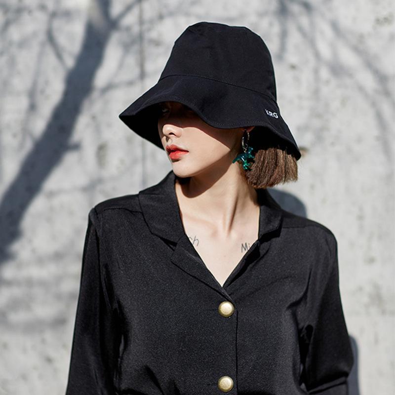 eb4346cdcfc OL Fashion Women Holiday Summer Beach Fisherman Hats KRG Letter Cool Anti  UV Sun Protection Bucket Hat Cap For Girl Women Fedora Hats For Women Hat  Shop ...