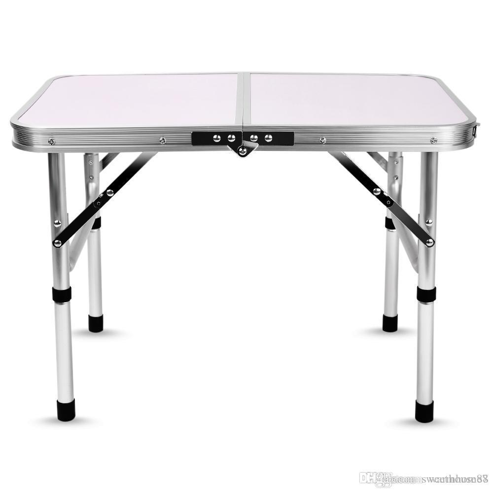 Tavolino Campeggio Pieghevole Alluminio.Tavolino Da Campeggio Pieghevole In Alluminio Pieghevole Per Scrivania Da Tavolo Regolabile In Altezza 60 X 40 5 X 24 41 5 Cm Tavoli Da Esterno