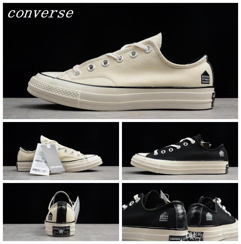 ed47db63fe9 2017 CDG X Converse One Star 1970s 157571C Black Chuck Tay Lor Casual  Fashion Canvas Designer Running Skate Conserves Shoes Sneakers 35 44  Footwear Sport ...