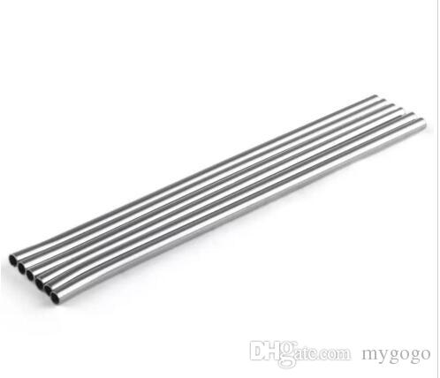 215MM length Durable Stainless Steel Straight Drinking Straw Straws Metal Bar Family kitchen top seller
