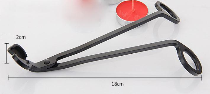 18CM Stainless Steel Round Repair Candle Wick Trimmer Oil Lamp Trim Scissors Bar Restaurant Extinguisher Cutter Snuffer Tool