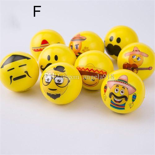 14 Arten Emoji Face Squeeze Balls Stress Relax Spielzeug Gemüse Obst Dinosaurier Weihnachten Halloween Monster squishy Bälle 6,3 cm C2652