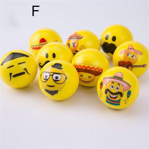 14 styles Emoji Visage Squeeze Balls Stress Relax toy Légumes Fruits Dinosaures De Noël Halloween Monstres Boules Squishy 6.3cm C2652