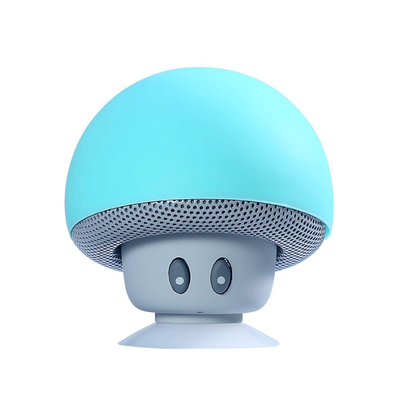 BT280 lovely mini mushroom Mp3 Car speaker subwoofer Bluetooth wireless speaker silicone sucker phone tablet computer stand