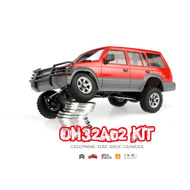 Orlandoo 1/32 4WD DIY RC Car Kit Orlandoo-Hunter OH32A02 RC Rock Crawler  Without Electronic Parts CellPhone Size