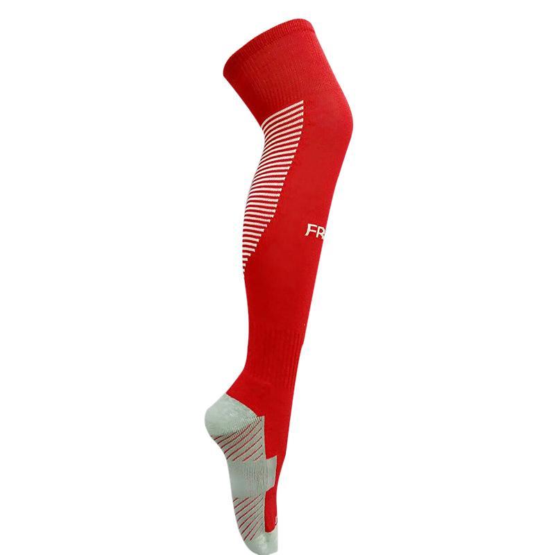 Meias de Futebol Anti-skid Homens Longos Meias de Ciclismo de Futebol Calçado Na Altura Do Joelho Alta Polainas Engrossar Algodão Meias de Esportes Respirável