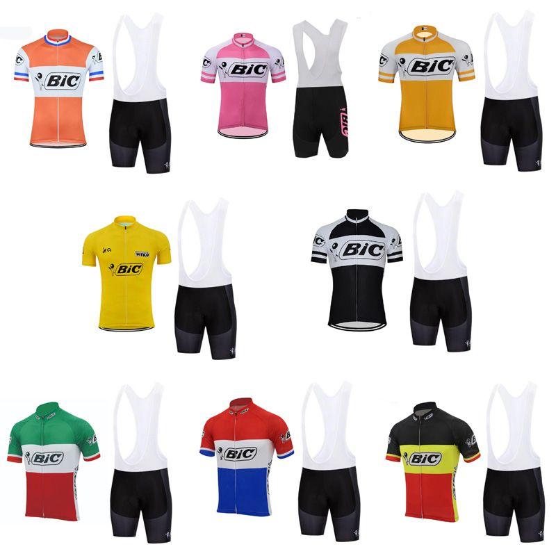 Pro Bike Team BiC Summer Mens Cycling Short Sleeve Jerseys Quick Dry Bib  Shorts MTB Bike Sport Ropa Ciclismo Wear Size XXS 5XL E62207 Cycling Shirt  Bicycle ... 465f01dd6