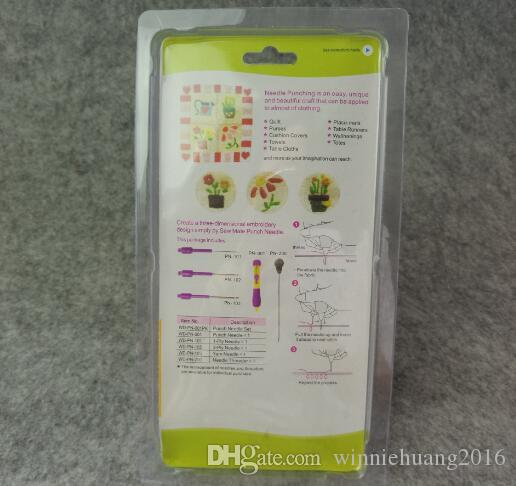 3 Sized Embroidery Pen Embroidery Stitching Punch Needle wiith Embroidered Pattern Punch Needle Set Sewing Tools