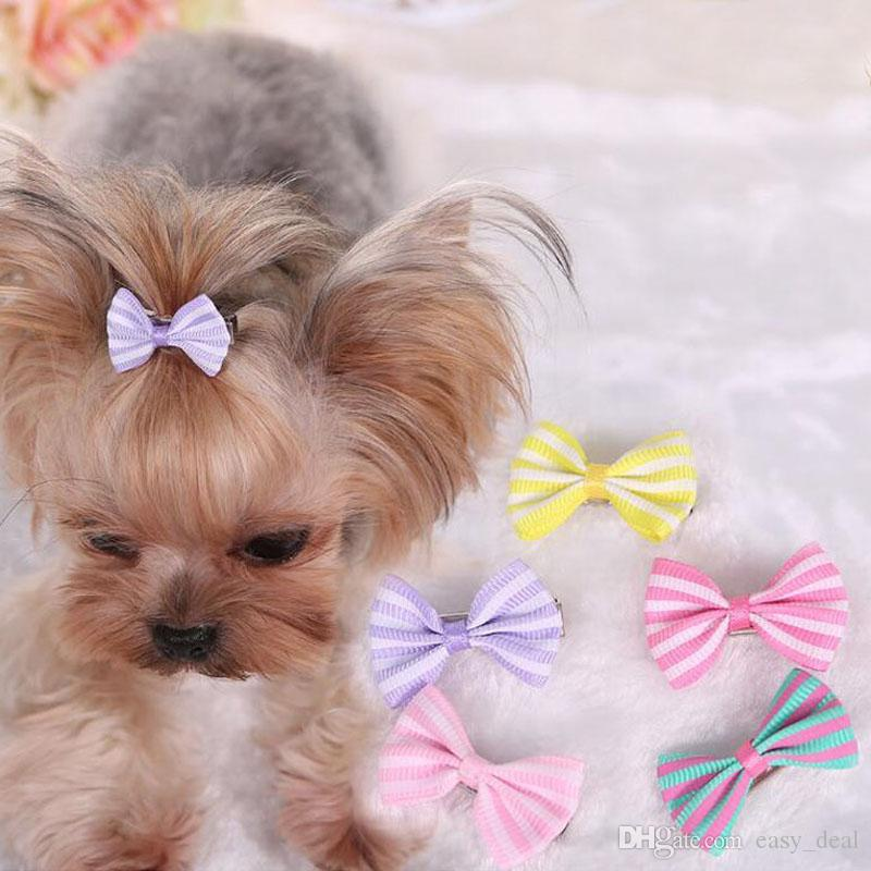 Fashion Dog Hair Bows Cat Puppy Grooming Bows for Hair Accessories Pet Product Hair Hairpin ZA6240