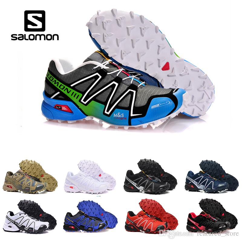 31f36e4a7e0e New Original Salomon Running Shoes Speed Cross 3 CS III Camo Green Black  Men Women Outdoor Crosspeed 3 Sports Sneakers Shoes Size 40 46 Ladies  Running Shoes ...