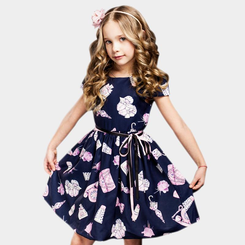 89d4f737977 2019 2 8 Years Girls Summer Dress 2017 Toddler Girls Princess Dress For  Party Robe Enfant Kids Dresses For Girls Flower Girl Dresses From Roohua