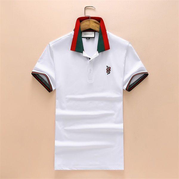 Compre Boss Dos Homens Novos De Mangas Curtas Camisa Polo T Shirt Bordado Camisa  Polo Para Homens De Luxo Homens De Polo De Algodão De Manga Curta Camisa ... c25e28d35d09d