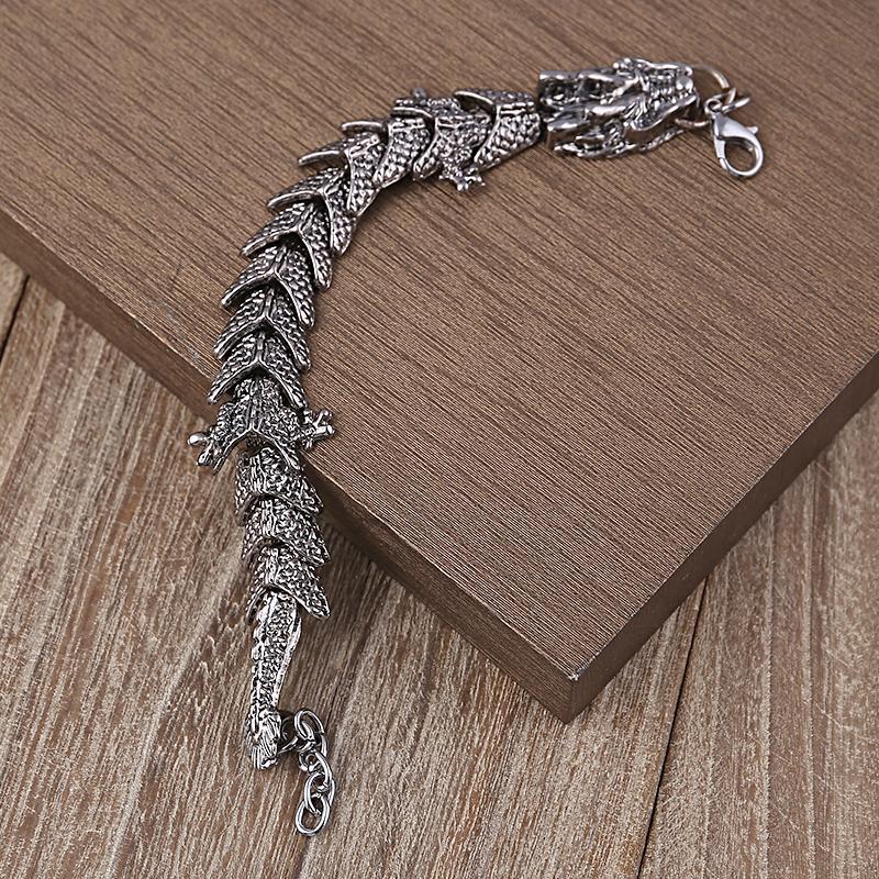 Unico regalo amante Dragon Charms Bracciali Bang Punk bracciali in acciaio inossidabile le donne uomini gioielli Pulseira