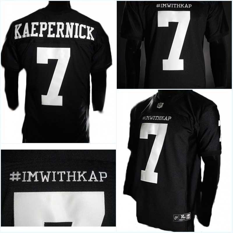 929e7a586 ... good 7 colin kaepernick men imwithkap jersey colin kaepernick im with  kap football jersey high quality