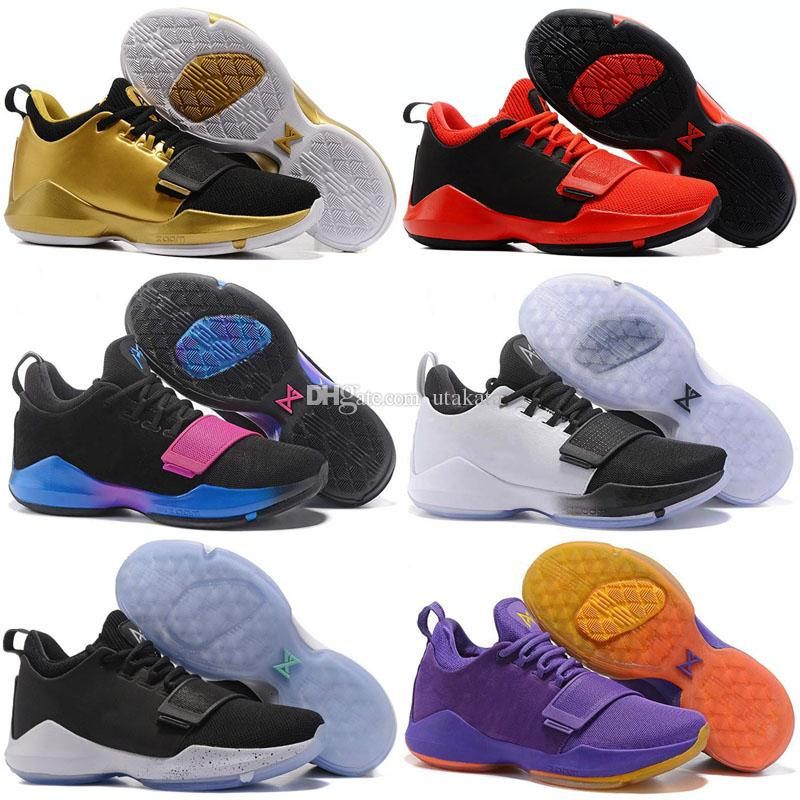 55080d57b 2017 Mens Athletic Paul George PG 1 TS Prototype EP Shining Zoom Low Cut Basketball  Shoes Adult Sport Trainer Sneakers 40 46 Jogging Shoes Sale Shoes From ...