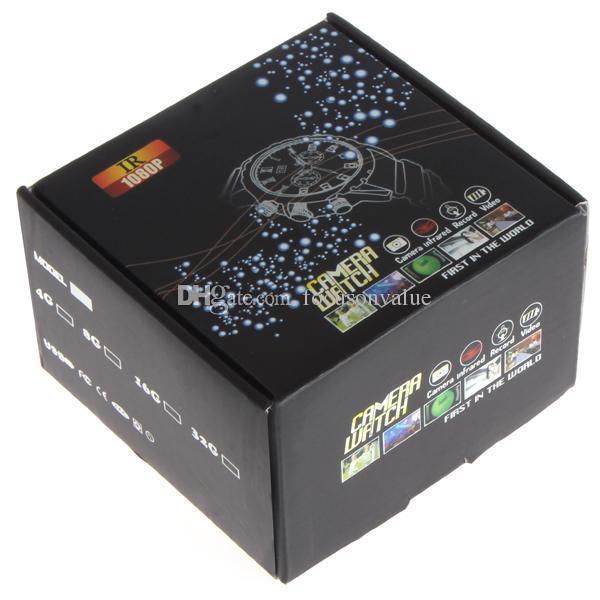 Водонепроницаемый Full HD 1080P часы камера инфракрасный ночного видения смотреть DVR W5000 8GB 16GB мини-диктофон в розничной коробке 10 шт./лот