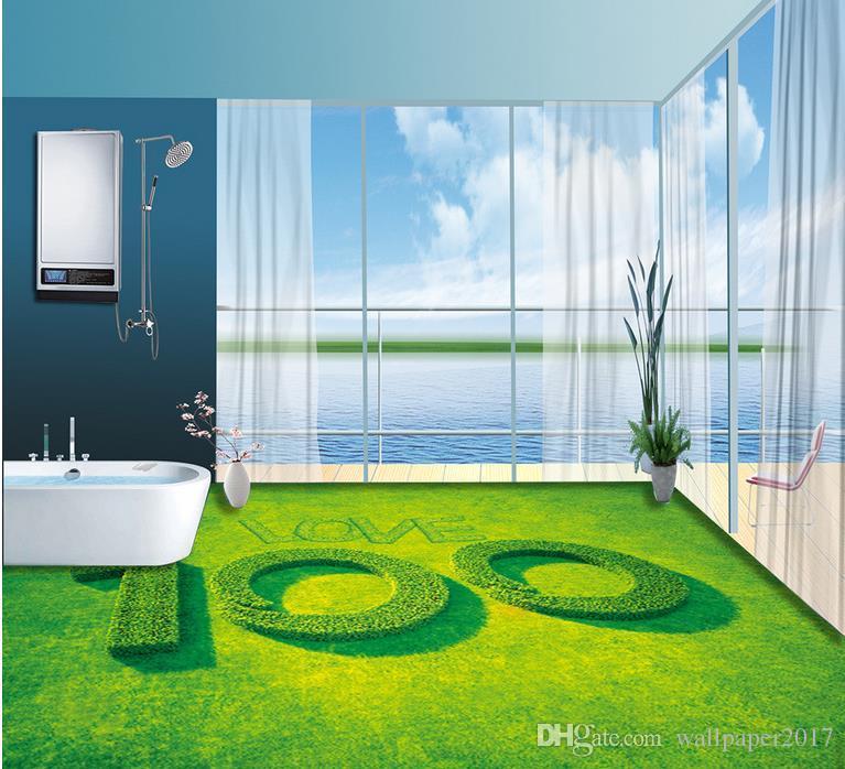 3D 바닥 pvc 자기 - 접착제 벽지 자연 바닥 pvc 비닐 바닥 벽지