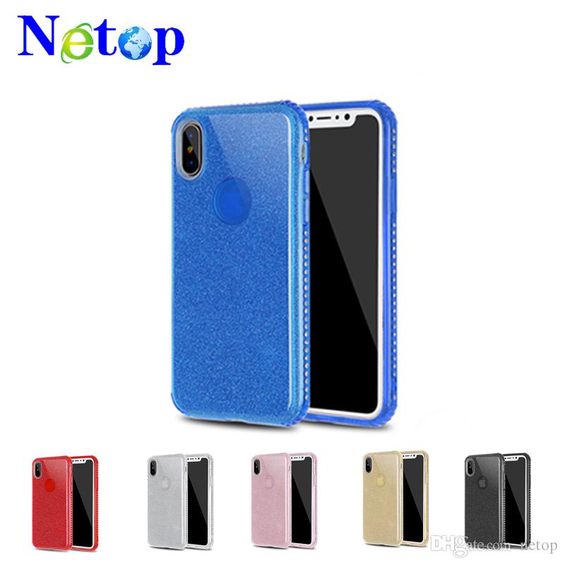 Netop TPU Shiny Luxury Cell Phone Case Anti-scratch Phone Accessories For iPhone X 8 7 6 6S Plus 6 Colors