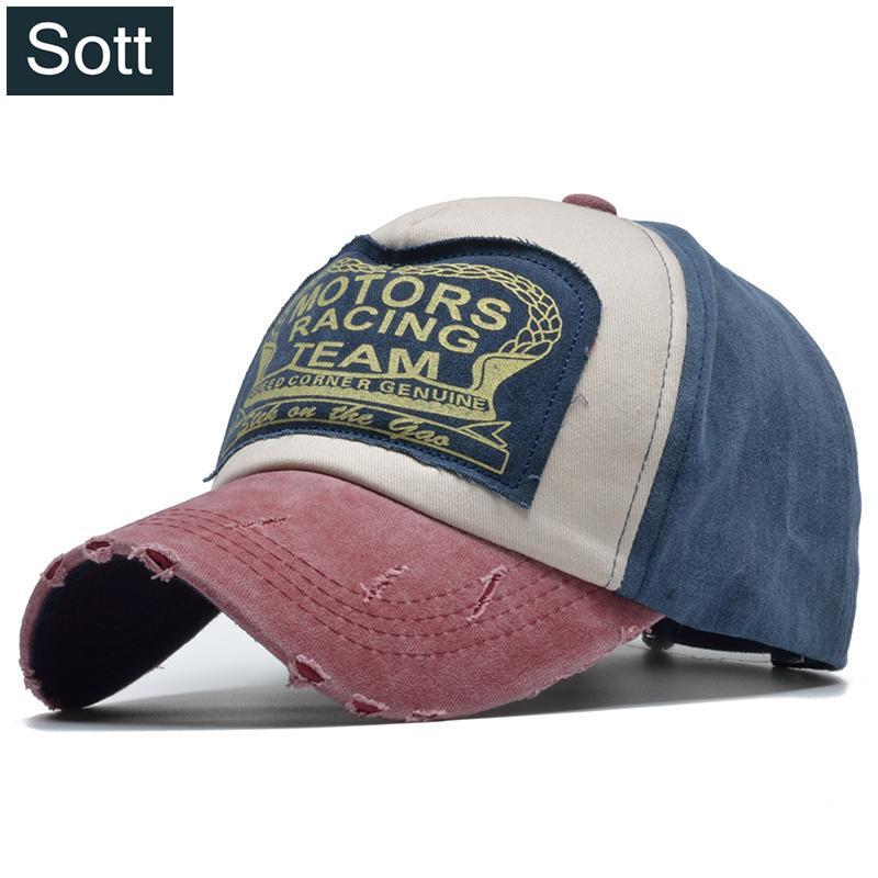 2163e13874451 SOTT Summer Cotton Cap Motors Racing Team Baseball Cap Snapback Hat Hip Hop  Fitted Hat For Men Women Bone Gorras Casquette Trucker Caps Flat Bill Hats  From ...