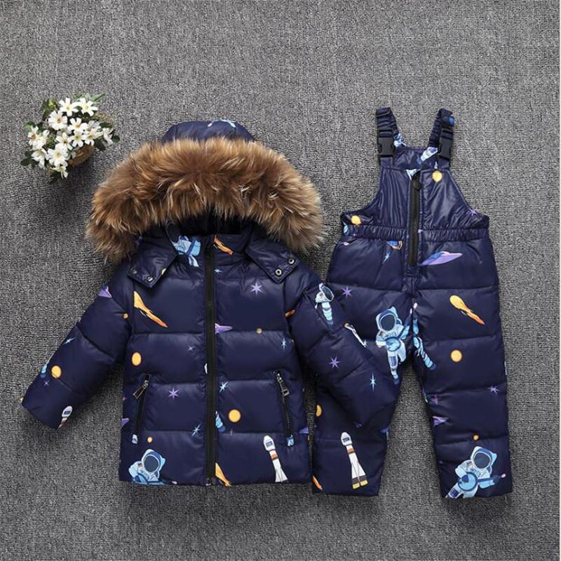 ac04ef47b24c 2018 Winter Baby Girls Clothes Sets Children Down Jackets Kids ...