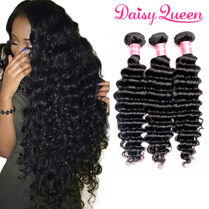8a Brazilian Virgin Hair Deep Wave Curly Weave Human Hair Weft 3