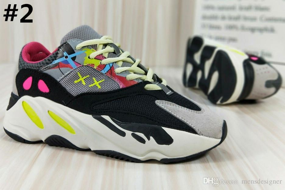 hot sale online 2c37f 20623 700 Runner shoes 2018 New Kanye West Wave Mens Women Athletic Best Quality  700s Sports Running Sneakers Shoes 40-46 With Box